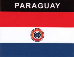 Aufkleber Paraguay, Länderaufkleber, Nationalflagge, Autoaufkleber