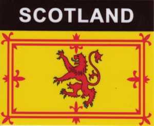 Aufkleber Schottland Löwe, Länderaufkleber, Nationalflagge, Autoaufkleber