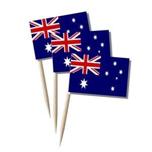Australien käsepicker minifähnchen zahnstocherfähnchen