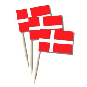 Dänemark Käsepicker, Minifahnen, Zahnstocherfähnchen