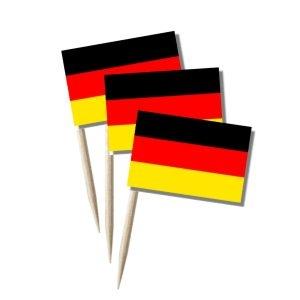 Deutschland Käsepicker Minifähnchen Zahnstocherfähnchen