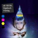 Zauberer Hüte bedrucken oder Zauberhüte bedruckt, digitaldruck, Spitzhüte