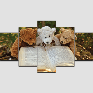Canvas Print Split Panels (5 in 1) – Teddys