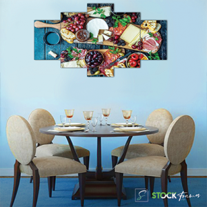 Canvas Print Split Panels (5 in 1) – Healthy Fruits