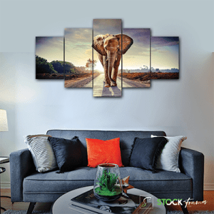 Canvas Print Split Panels (5 in 1) – Elephant