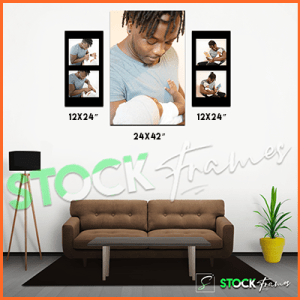 Canvas Prints Gallery Set Panels – 5 Images in 3 Frames