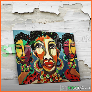 Canvas Prints Single Panels (African Artwork) – 18×24 etc.
