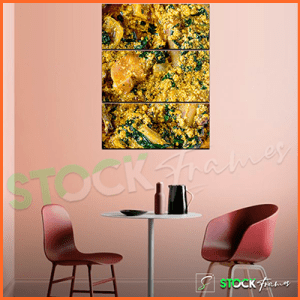 Canvas Prints Triptych – (3 Piece Egusi Soup Wall Art)