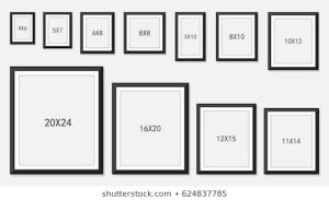 sizes of Photo frames in Nigeria