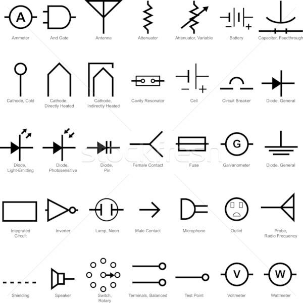 Electrical Symbol Icon Set vector illustration © John