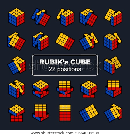 Rubik's Cube puzzle vector illustration © fixer00