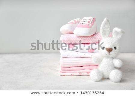 Bébé · vêtements · enfants · vecteur · blanche · fille