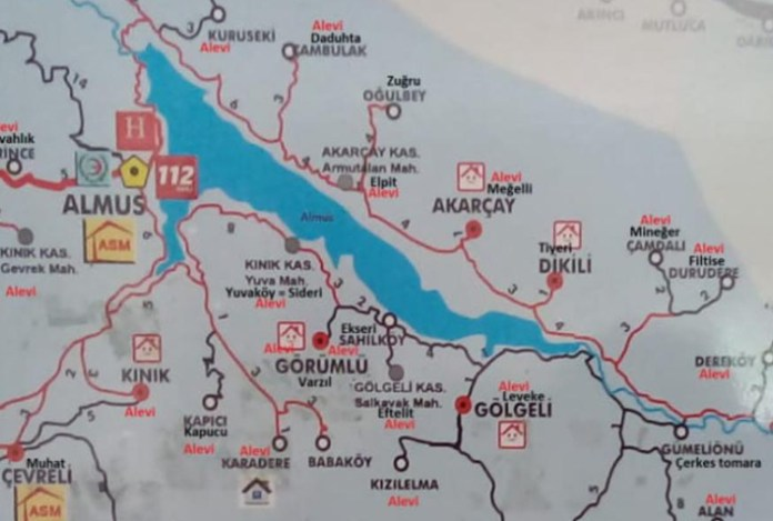 In possible sign of official discrimination, villages are identified as Alevi on Turkish Health Ministry map 21