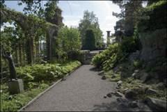 сад в парке карла миллеса в стокгольме