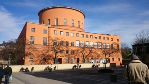 круглая городская библиотека в стокгольме
