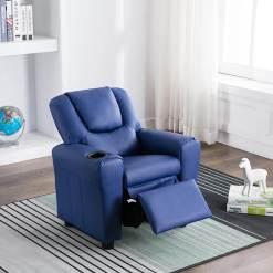 Kids Recliner Chair Blue