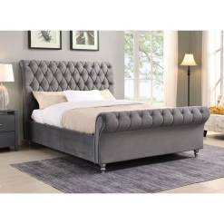 Kilkenny Fabric Bed Frame - Grey