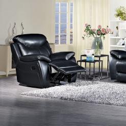 Bradshaw Black Leather 1 Seater Sofa