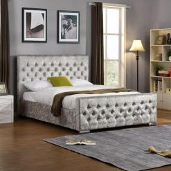Galaxy Diamante Bed Silver
