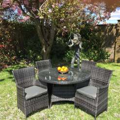5 Piece Rattan Dining Set