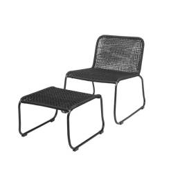Mundo Chair with Footrest Black