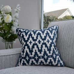 Aztec Navy Cushion