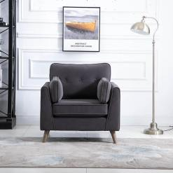 Zurich Grey 1 Seater