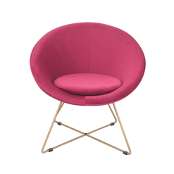 Raspberry Velvet Retro Chair