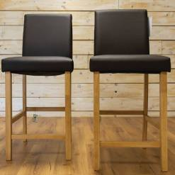 Leather Barstool Pair