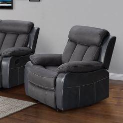 Janus Two Tone Slate 1 Seater Sofa