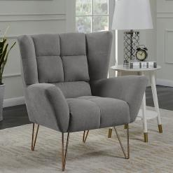 Lacy Light Grey Armchair