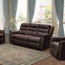 Oscar Brown 3 Seater Sofa