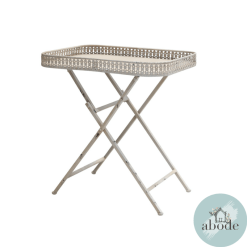 Riviera Folding Table with Lace Edge