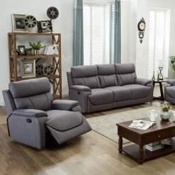 Violet Light Grey 1 Seater Sofa