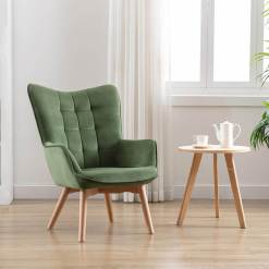 Kayla Viola Green Fabric Chair