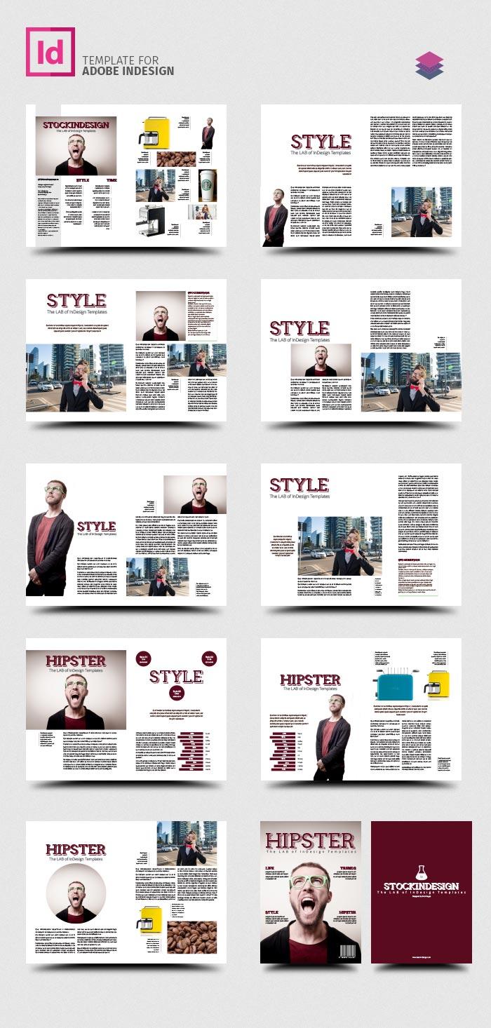 PRO Magazine Template Hipster StockInDesign