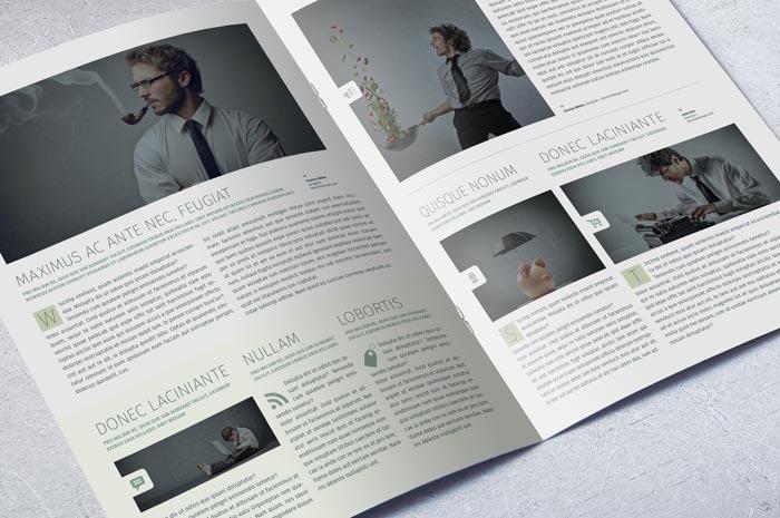 Modern Business Newsletter Template Adobe InDesign Template