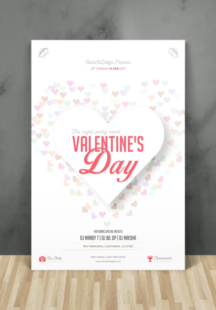 Valentines Day Flyer Template Adobe InDesign Template