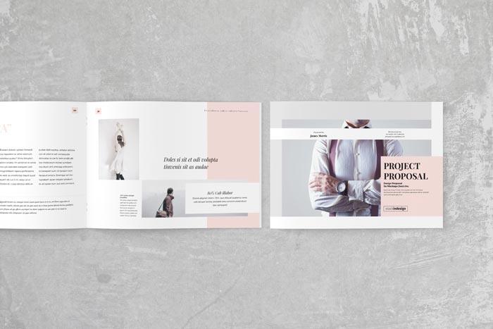 Project Proposal Landscape Adobe InDesign Templates