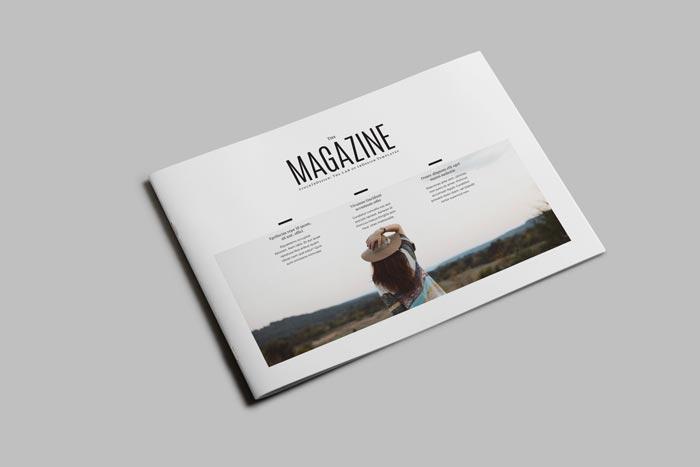 FREE Minimal Magazine Landscape  StockInDesign