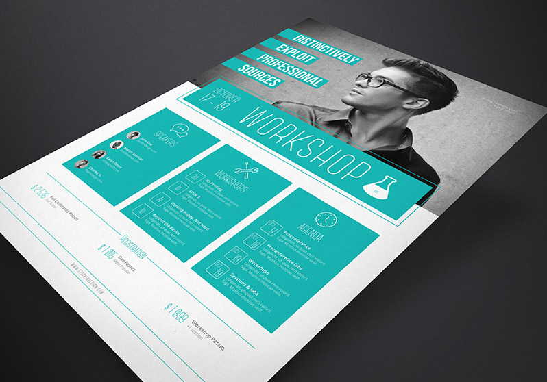 StockInDesign Corporate Flyer Template Workshop