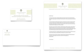 Life & Auto Insurance Company Business Card & Letterhead