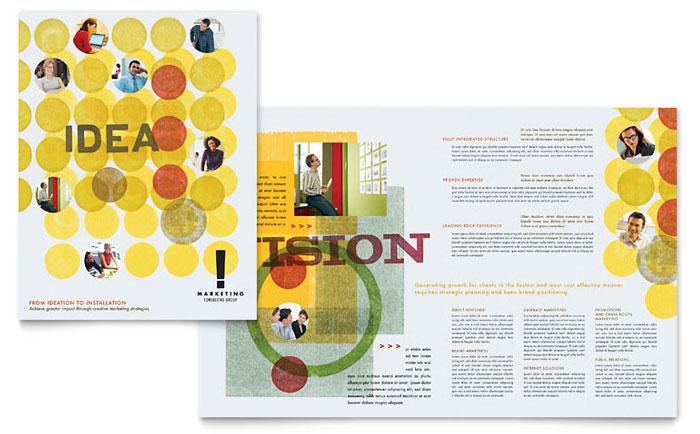Marketing Consultant Brochure Template Design