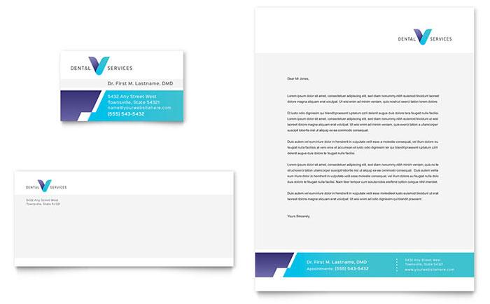 Dentist Business Card & Letterhead Template Design