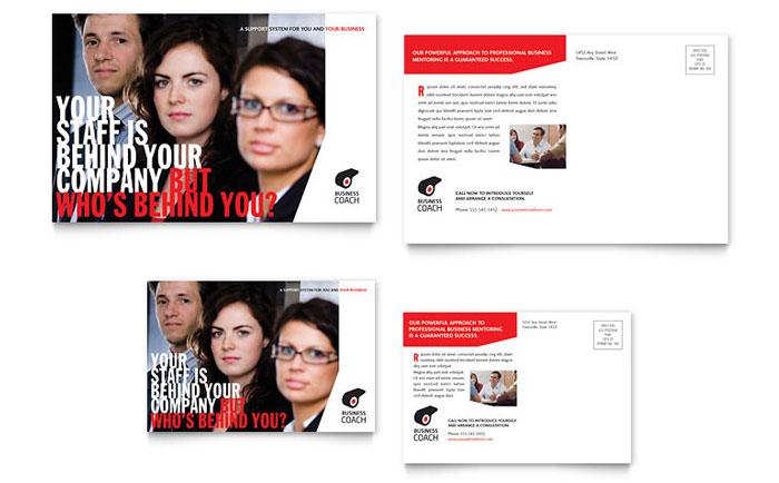 Business Executive Coach Postcard Template Design
