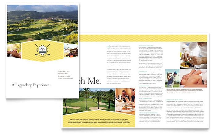 Golf Resort Brochure Template Design