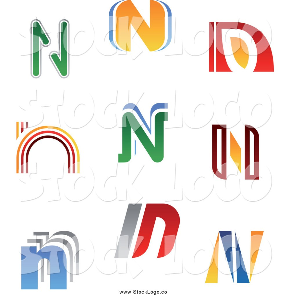 medium resolution of vector clipart of colorful letter n logos