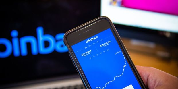 Cryptocurrency platform Coinbase says first-quarter revenue topped $1 billion