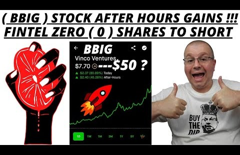 BBIG STOCK AFTER HOURS MOONING | SHORTS ARE DOUBLING DOWN ON BBIG | PREMIUM FINTEL ZERO SHARES LEFT