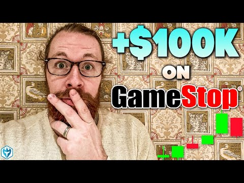 Up $100k Pre-Market on GameStop Stock (NYSE:GME) Short Squeeze Day Shopping and selling $AMC $KOSS